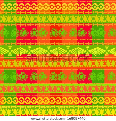 geometric seamless pattern,  seamless background in ethnic style, African ornament, Indian ornament