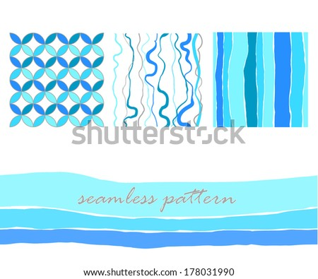 geometric seamless pattern, set - stock vector