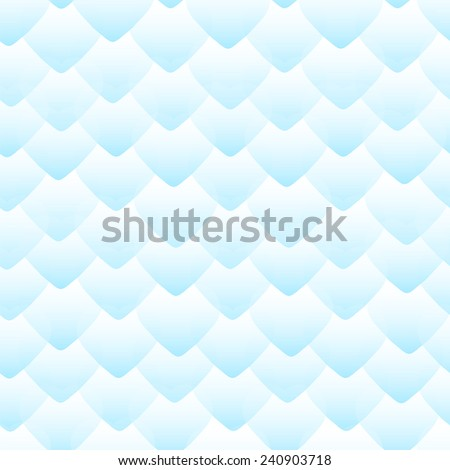Geometric seamless pattern with blue scales. - stock vector