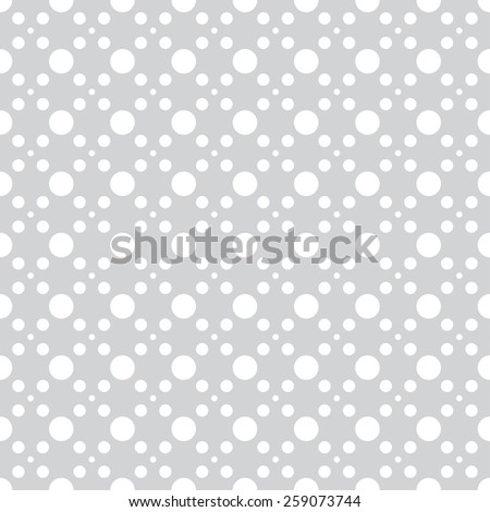 Geometric seamless pattern with circles of different sizes. Monochrome. Vector illustration - stock vector