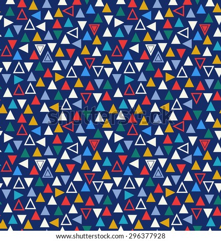Geometric seamless pattern with triangles. Abstract multicolor background - stock vector