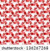 Geometric seamless pink pattern for tiles and wallpapers - stock vector