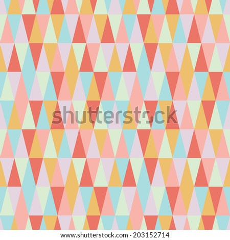 geometric seamless triangle texture - stock vector