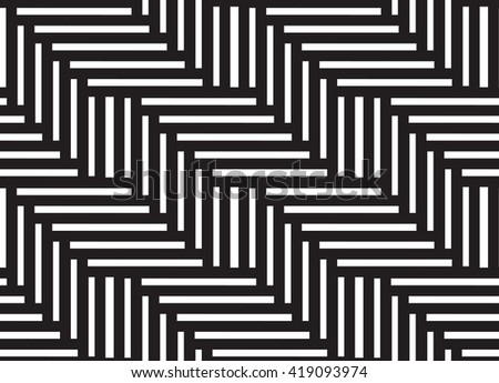 Geometric seamless vector background with black and white zig zag pattern.