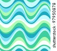 Geometric seamless water sea pattern. Colorful vector illustration - stock vector