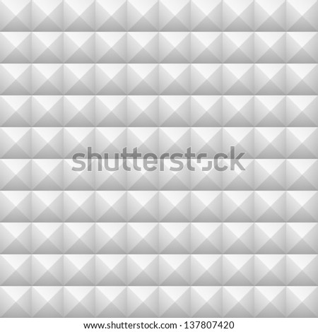 Geometric Seamless White texture, vector illustration