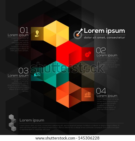 Geometric Shape Abstract Design Layout - stock vector