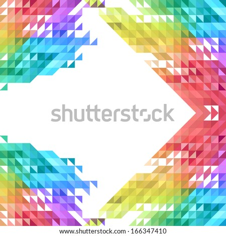 geometric shape background with colorful mosaic triangles - stock vector