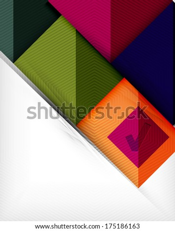 Geometric shape flat abstract background. Blank infographic background