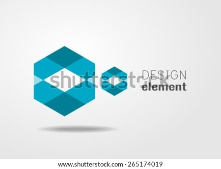 Geometric Shape Logo Design Template Stock Photo (Photo, Vector ...