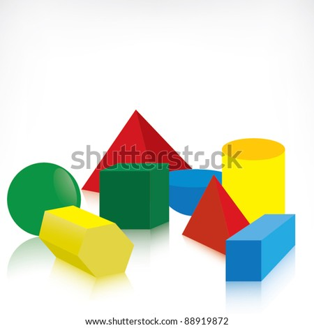 Geometric shapes - stock vector