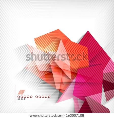Geometric shapes abstract background - stock vector
