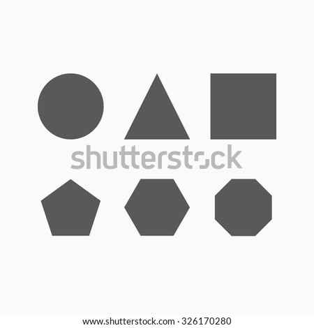 geometric shapes icon - stock vector