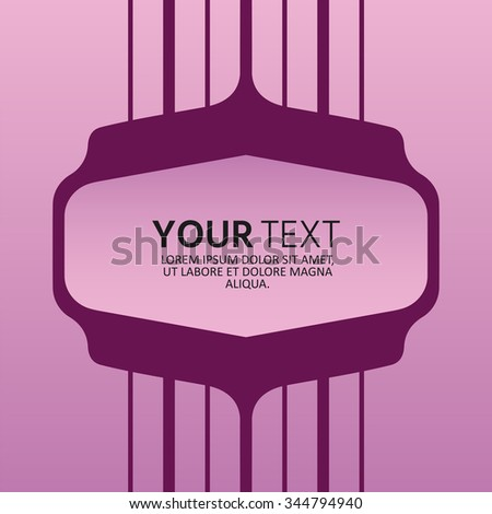 Geometric shapes. Trendy backgrounds and frame for text with space for your message. Modern graphic element of design. All elements are editable. Perfect for invitations or announcements. - stock vector