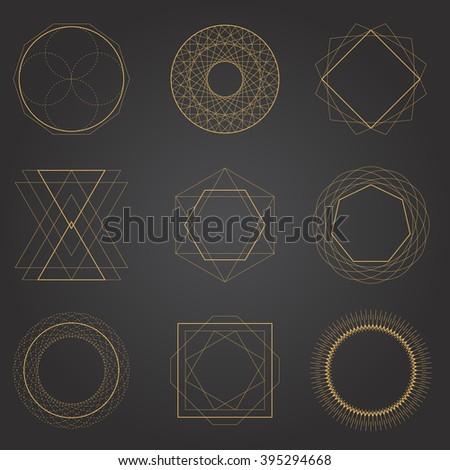 Geometric Shapes Vectors - stock vector