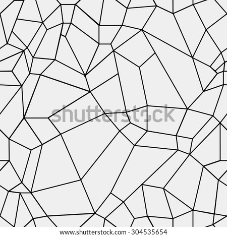 Geometric simple black and white minimalistic pattern, rectangles or stained-glass window. Can be used as wallpaper, background or texture. - stock vector