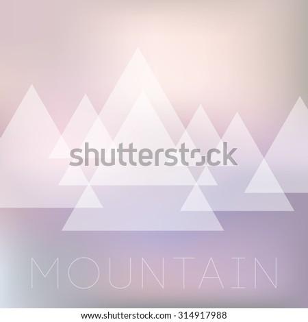 Geometric simple vector illustration, mountains illustration - stock vector