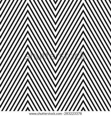 Geometric striped ornament. Vector seamless pattern. Modern stylish texture. Monochrome linear braids