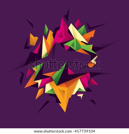 Geometric style abstraction in color. Vector illustration. - stock vector