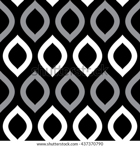 Geometric stylish background. Modern graphic design. Vector Black & White seamless patterns. Wallpaper texture background. Vector repeating texture. - stock vector