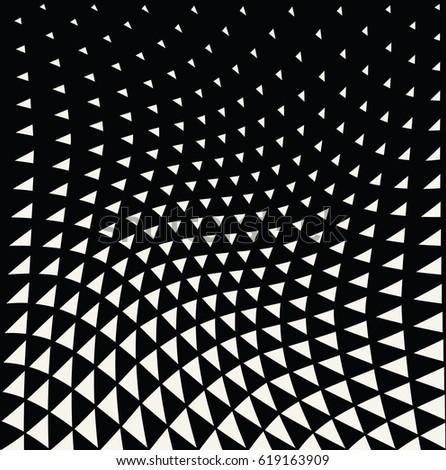 Geometric Triangle Halftone Minimal Pattern Vector Stock