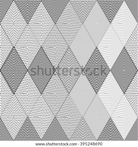 Geometric triangle pattern, background vector pattern with rhombus, squares shape  can be used for wallpaper, cover fills, web page background, surface textures. Vector linen texture. - stock vector