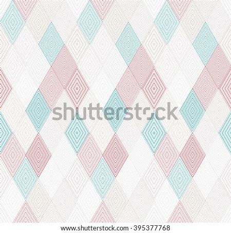 Geometric triangle pattern, background vector repeatable pattern with rhombus, squares shapes can be used for wallpaper, cover fills, web page background, surface textures. Vector linen texture. - stock vector
