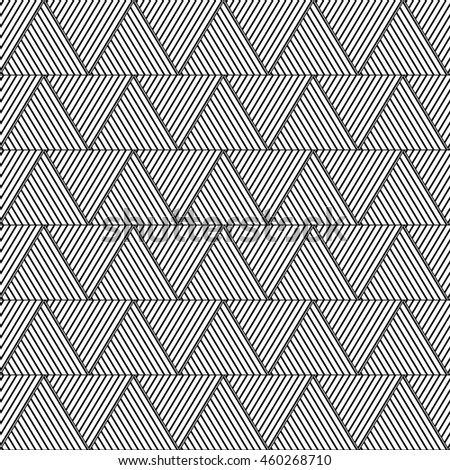 Geometric triangle pattern, background vector. Striped monochrome textures.can be used for wallpaper, cover fills, web page background, surface textures.