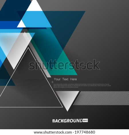 Geometric Triangle Shapes Digital Background - stock vector