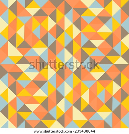Geometric triangles background. Mosaic. Abstract vector illustration.  - stock vector