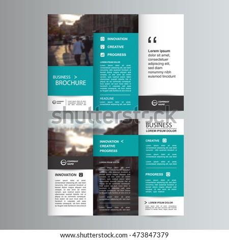 Geometric trifold business brochure leaflet flyer stock vector geometric trifold business brochure leaflet flyer or booklet template flat design set vector illustration accmission Image collections