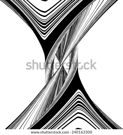Geometric Twisted Hourglass Shape Vector 25 - stock vector