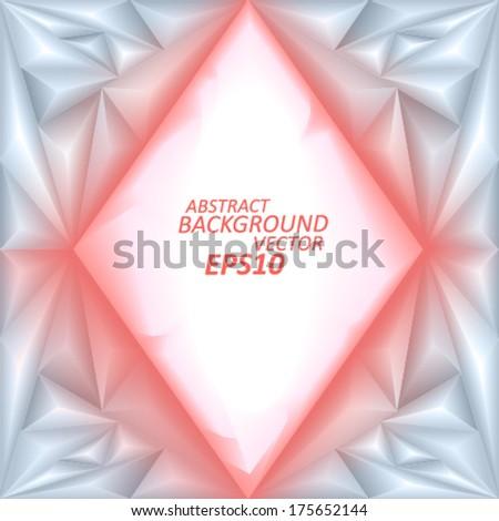 Geometric vector background - stock vector