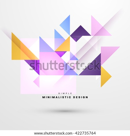 Geometric Vector Background. Triangles Pattern Background for Business Presentations, Application Cover and Web Site Design.