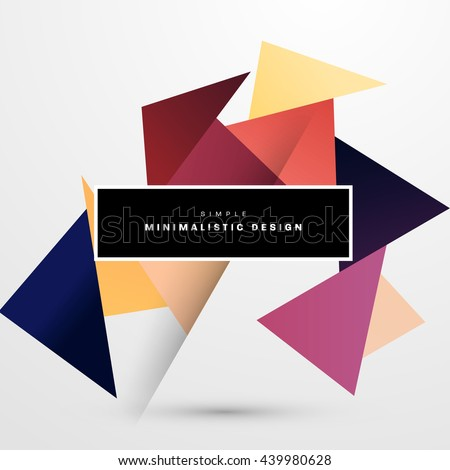 Geometric Vector Background. Triangles Pattern for Business Presentations, Application Cover and Web Site Design. - stock vector