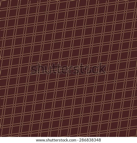 Geometric vector ornament with triangles. Seamless abstract texture with dots for wallpapers and background. Brown and golden colors