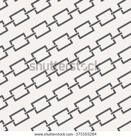 Geometric Vector Pattern, repeating abstract chain