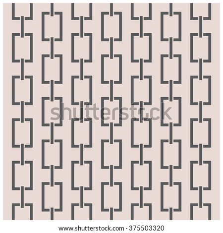 Geometric Vector Pattern, repeating abstract chain - stock vector