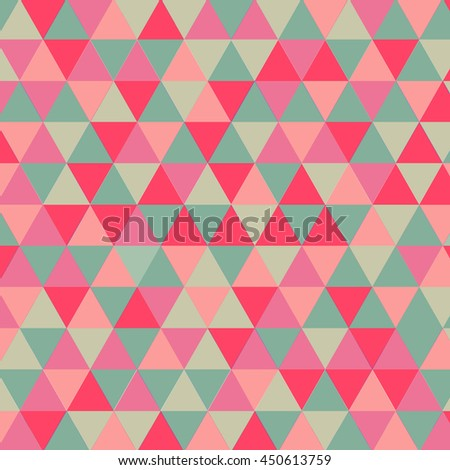 geometric vector pattern pink triangles seamless stock vector
