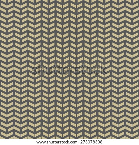 Geometric vector pattern with triangles. Seamless abstract texture for wallpapers and backgrounds. Brown and golden colors