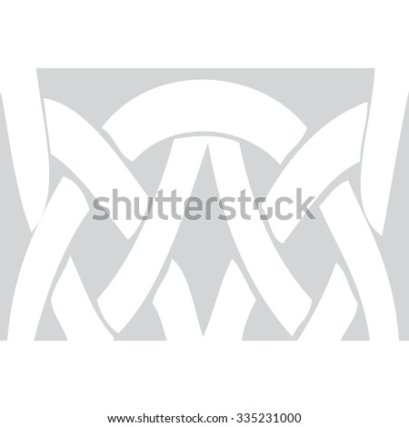 geometric vintage pattern. Ethnic vector textured background from Byzantine - stock vector