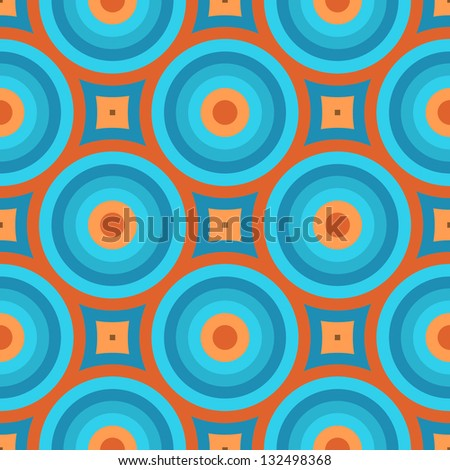 Geometric Vintage Retro Wallpaper Seamless Pattern Illustration - stock vector