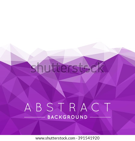 Geometric Violet and White Abstract Vector Background for Use in Design. Modern Polygon Texture with Text.