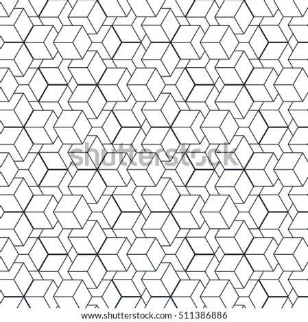 geometric volume pattern cube optical illusion 3 d stock vector