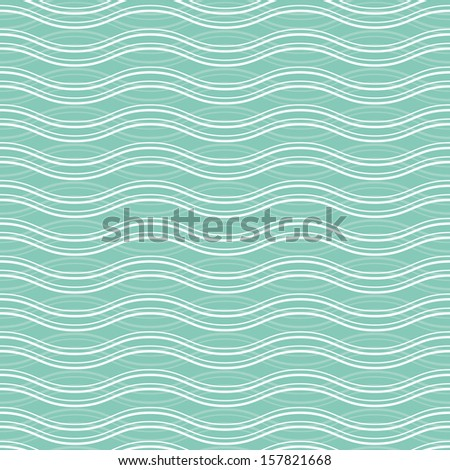 Geometric wave seamless pattern background. Great for textile or web page background. - stock vector
