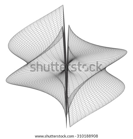 Geometric Wireframe Shape Vector 74 - stock vector