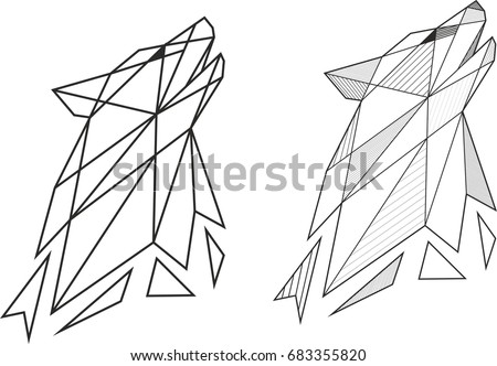 Geometric Wolf Stock Images, Royalty-Free Images & Vectors ...
