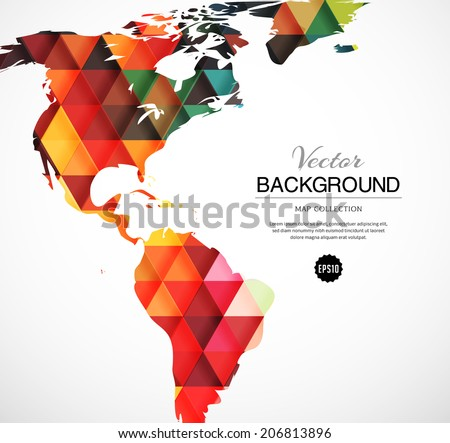 Geometric world map triangle pattern vector stock vector 206813896 geometric world map with triangle pattern vector illustration gumiabroncs Image collections