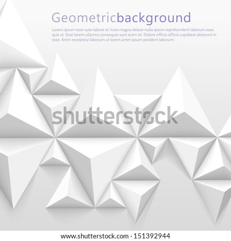 Geometrical abstract background - stock vector