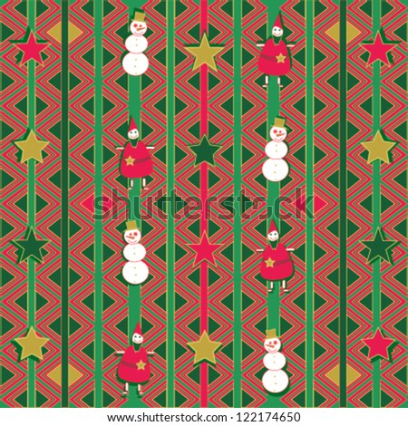 Geometrical Christmas background - stock vector